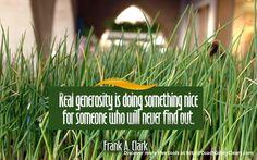 #generosity
