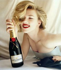 Scarlett for Moet & Chandon Love this Ad!!
