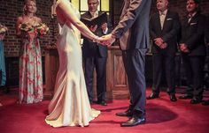 Wedding ceremony at Old Mill Chapel, Toronto | Vintage Wedding Photography | www.newvintagemedia.ca