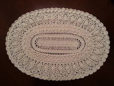 Elegant Oval Doily Part 8 - Final Part - YouTube