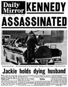 The death of president john f kennedy in dallas texas
