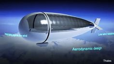 Drone-Satellite Hybrid Vehicle Called StratoBus an autonomous airship created by French Company called Thales Alenia Space. It will be able to carry out observation, security, telecommunications, broadcasting and navigation by Thales Alenia Space #drone #autonomous #hybrid #satellite #stratobus #french #thalesaleniaspace #telecommunication #broadcasting #navigation #airship #space #design #solar #tech #vehicle