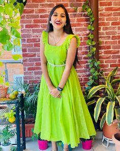 Long Dress Design, Short Sleeve Dresses, Dresses With Sleeves, Anarkali Dress, Designer Dresses, Sewing, Instagram, Fashion, Moda
