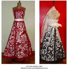 Beatrice Coron - cut paper dresses