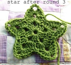 Crochet little stars. These turn out adorable. I made mine out of sparkly gold thread. They make great little ornaments