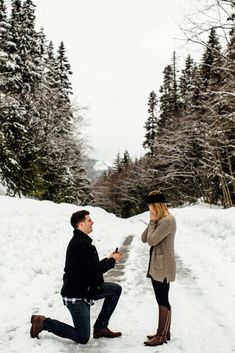 It was a snowy day in Seattle when Jon asked Mckenna to be his wife. Engagement session in Leavenworth, WA. Wedding Engagement, Engagement Session, Winter Proposal, Proposal Photographer, Proposal Ideas, Wedding Proposals, Snowy Day, Great Friends, Little Dogs