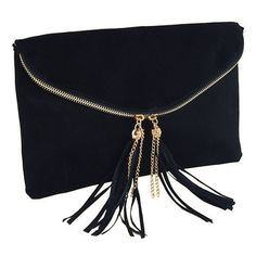 #Pinspiration. Bag bag bag. Clutch in black with zip