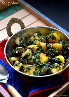 Saag Aloo Simple and Rustic potato and spinach curry