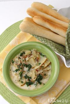 It needs to be fall! Im ready for home made soup!! Zuppa Toscana