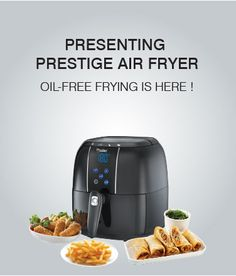 Prestige Air fryer is a smart kitchen gadget that get you food you will love with fried by air instead of oil. The main part that you are gonna love is that you will get the delicious foods totally healthy for you as it uses 80% less oil for frying.  Now you may ask that how does it possible to fry with out air. Let me describe one thing to you that it is using a rapid air technology that allows to fry your food by using air and 80% less oil, that gets you a healthy food actually.