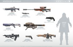 Destiny_Weapon_Size_Reference_wallpaper.jpg (JPEG Image, 1920 × 1242 pixels) - Scaled (59%)  source: http://www.bungie.net/en/News/News?aid=11987