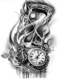 Armband Tattoo Design, Tattoo Sleeve Designs, Tattoo Designs Men, Watch Tattoos, Up Tattoos, Sleeve Tattoos, Arte Cholo, Mexican Tattoo, Egypt Tattoo