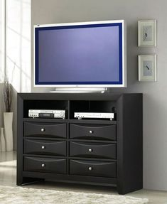 tv on bedroom dresser #coasterfurnituredressers #coasterfurniturebedroom