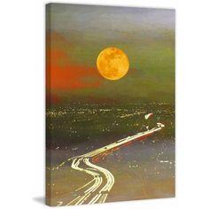 Parvez Taj Santa Sun Current Print on Canvas, Size: 30 inch x 45 inch, Multicolor
