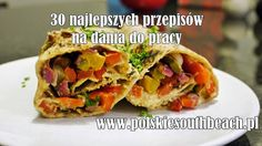 Polskie South Beach: Wrap z grillowanymi warzywami i hummusem Bento Box Lunch, School Snacks, South Beach, Hummus, Meal Prep, Recipies, Food And Drink, Healthy Eating, Mexican