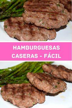Hamburguesas caseras de carne picada muy fáciles, super jugosas y sabrosas. Se pueden congelar y servir con tu guarnición favorita. Trucos.