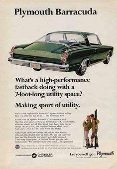 1966 Plymouth Barracuda advert.