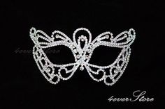 The Crystal Bridal Collection -  Masquerade Dream Wedding - Fine Jewelry Masquerade Mask Fully Covered with Genuine Crystals by 4everstore