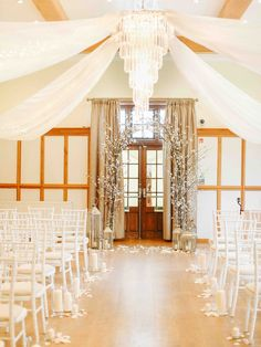Ceremony Aisle & Altar at Silchester House | Belle and Beau Fine Art Photography