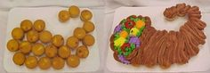 Cornucopia Cupcake Cake