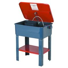 Electric 20-gallon parts washer with pump