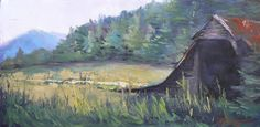 Landscape  Painting Farm Painting  Rural by CarolSchiffStudio Country barn