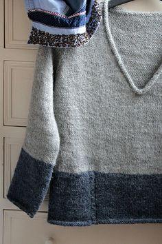 My new sweater top-down. Laine Bergère de France tricot