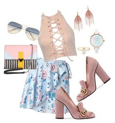 """""""Untitled #79"""" by amanihalaly on Polyvore featuring Miss Selfridge, Gucci, Isabel Marant, Serefina and Iceberg"""