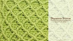 How To: Crochet The Diamond Stitch - Easy Tutorial