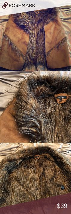 🦉Faux fur SOFT suede fall vest warm stylish Sz:S 🦉Faux fur SOFT suede fall 🍂 stylish vest Sz:S Fabulous condition from what I can see! So soft, thick, nice material & detail is amazing! So soft! 😍 Perfect for fall! *The last pic of the vest on isn't the same vest but is the same fit/way it lays on you! Jackets & Coats Vests