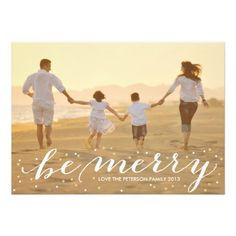 'Glitter Be Merry' Holiday Photo Card by Hooray Creative (available on Zazzle)