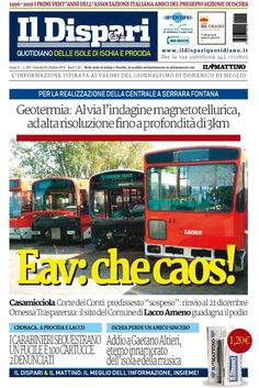La copertina del 20 ottobre 2016 #ischia #ildispari