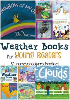 Books for Kids Spring is the perfect time to teach young learners about the weather. Here's a fantastic weather book list to get you started! Preschool Weather, Weather Activities, Science Activities, Sequencing Activities, Science Education, Science Experiments, Preschool Books, Science Books, Preschool Learning