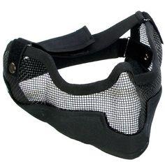 "Matrix Iron Face Carbon Steel ""Striker"" Gen2 Metal Mesh Lower Half Mask - Black by Perfect, http://www.amazon.com/dp/B005SWETD4/ref=cm_sw_r_pi_dp_h9LUqb18KWFTH"