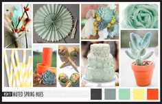 Lizzy B Loves visual + sparkle = inspiration : Muted Spring Hues #wedding_inspiration #wedding_color_palette #color_palette_inspiration