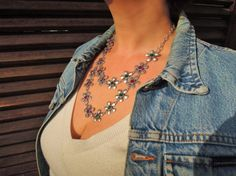 Check out this item in my Etsy shop https://www.etsy.com/listing/229175431/statement-necklace-boho-necklace-bib