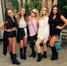 Little Mix with Emma Bunton (Spice Girls).