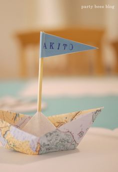 Nautical themed party from party bees blog