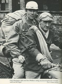 """samuel-a-taylor: """"British climbing and mountaineering legends, Sir Chris Bonnigton and Don Whillans """" Mountain Hiking, Mountain Climbing, Alpine Style, Escalade, Ice Climbing, Swiss Alps, Extreme Sports, Mountaineering, Mountains"""