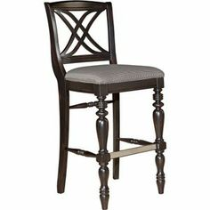 Mirren Pointe 2 pc Uph. Seat X-Back Bar Stool in Chocolate Finish