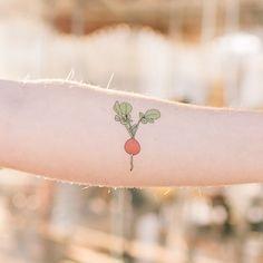 radish temporary tattoo // tattly