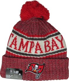 4585972bacb Tampa Bay Buccaneers New Era NFL On Field 2018 Sport Knit Bobble Hat