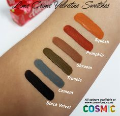 Lime Crime Velvetine Swatches