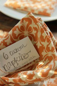 Migonis Home: Sewing Cloth Napkins