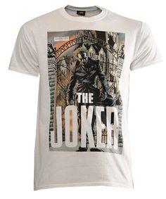 Urban Clothing   Hip Hop Clothes   Fashion Wear   Magic Streetwear DC Comics Mens Joker T-Shirts White)
