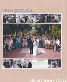 Wedding Scrapbook Layouts | Wedding Scrapbook: Our Guests Layout | Almost Never Clever.