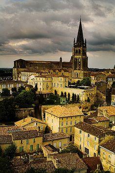 Saint Emilion village centre, Bordeaux, France