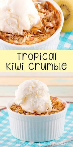 This kiwi crumble is unlike any crumble you've had before. It's summer in a ramekin! #Zespri4Life #Ad