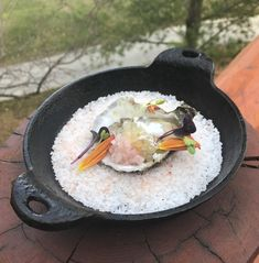 Oyster dish from our Locations Wine Dinner 2017