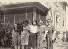 My Mom's two sisters and mother and aunt.jpg